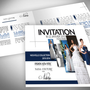 Invitation défilé de mode Collection Paris